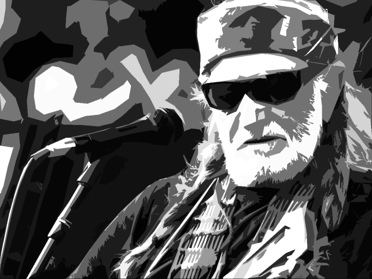 Willie Nelson Bad Ass bandana gangster