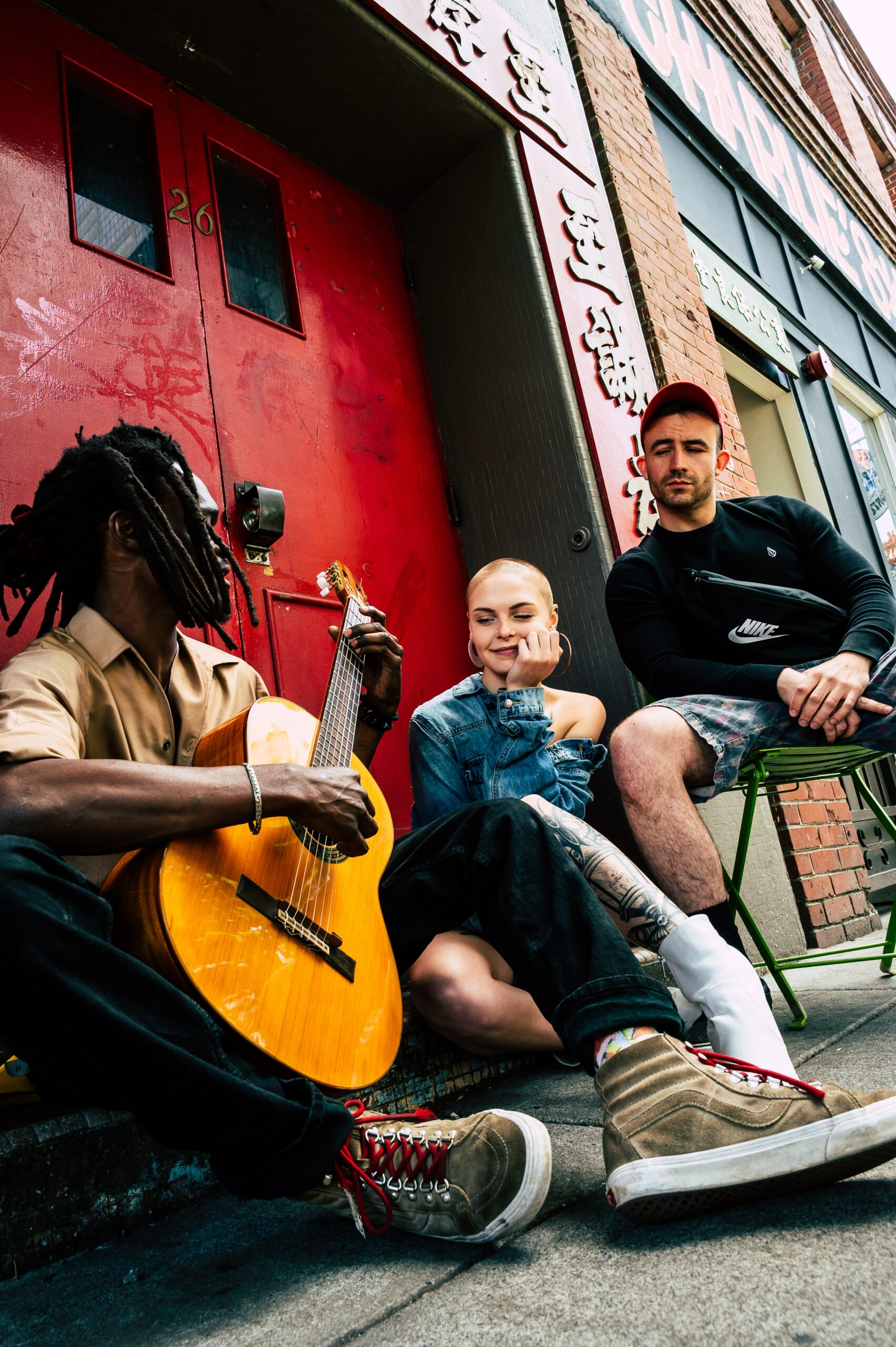Playing reggae on the streets