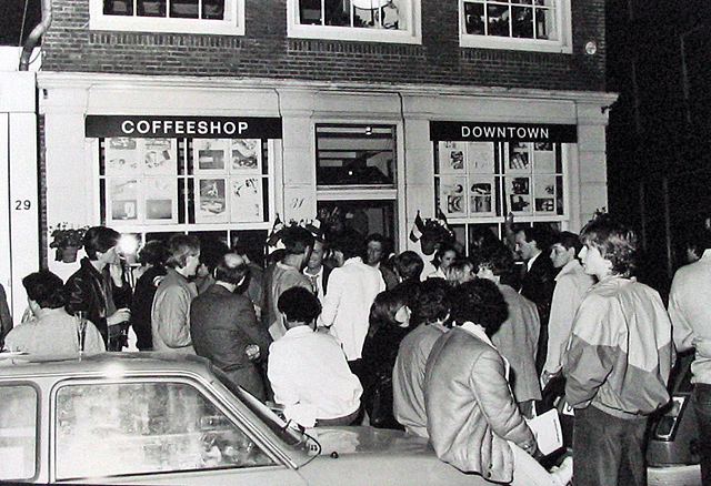 a coffeeshop in the 70's in amsterdam